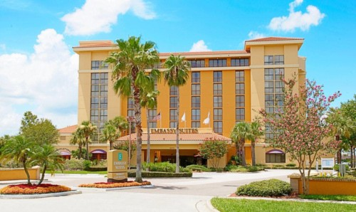 frente do hotel |  As suites do Embassy Suites by Hilton Orlando International Drive Convention Center