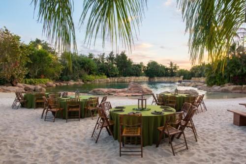 A lagoa mais no Discovery Cove ao lado é o lugar para relaxar.  |  As suites do Staybridge Suites Orlando at SeaWorld