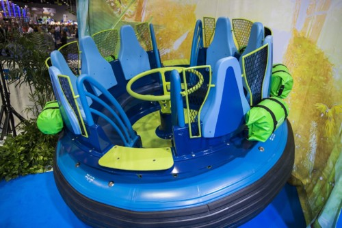 The raft for the new Infinity Falls ride at SeaWorld. | Suites at Staybridge Suites Orlando at SeaWorld